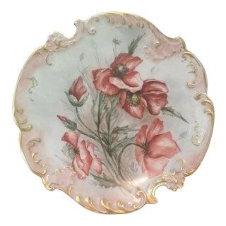 1899 Antique Limoges Plate, Artist Signed For Sale
