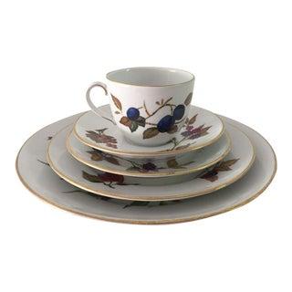 Vintage Royal Worcester Fine Porcelain 5 Piece Set
