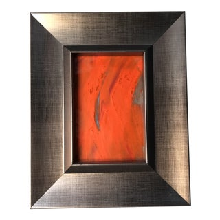 """Orange"" Original Abstract Painting by Erik Sulander For Sale"