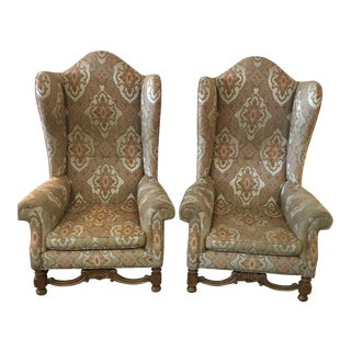 Antique Wing Chairs - a Pair For Sale