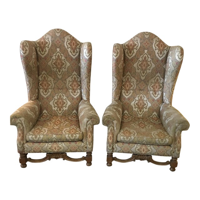 Antique Wing Chairs - a Pair - Antique Wing Chairs - A Pair Chairish