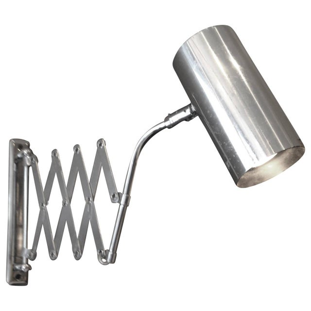 Industrial Style Koch and Lowy Accordion Sconce For Sale