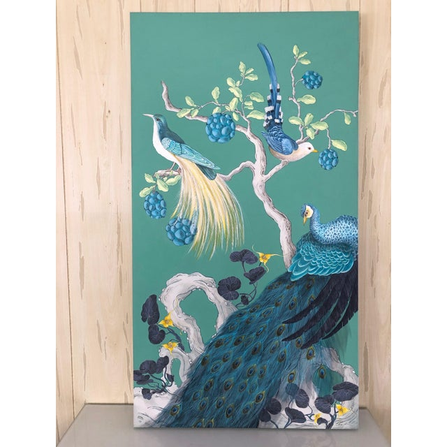 The Arrival Contemporary Bird Botanic Painting For Sale - Image 9 of 12