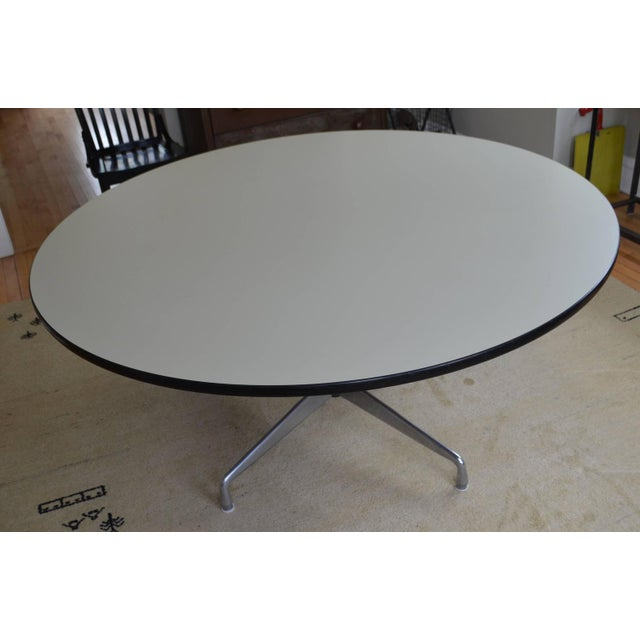 Mid-Century Oversized Round Dining Table - Image 2 of 8
