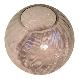 Vintage Clear Glass Floor Vase