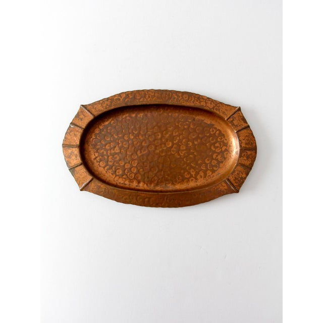 Mid 20th Century Mid-Century Hammered Copper Tray For Sale - Image 5 of 9