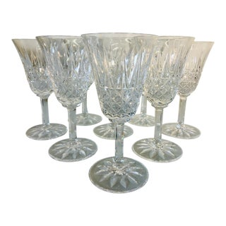 Vintage St.Louis Glass Wine Stems, Set of 8 For Sale