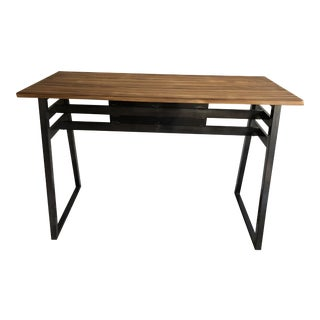 Industrial Style Metal and Wood Ling Pub Table