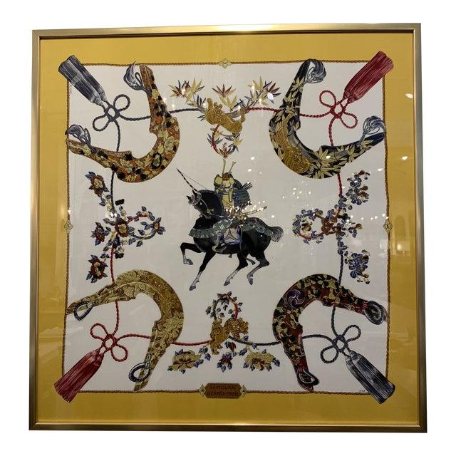 Vintage Hermès Custom Framed Scarf For Sale