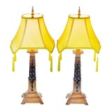Image of Vintage Berman Reticulated Metal Table Lamps - Heavy For Sale