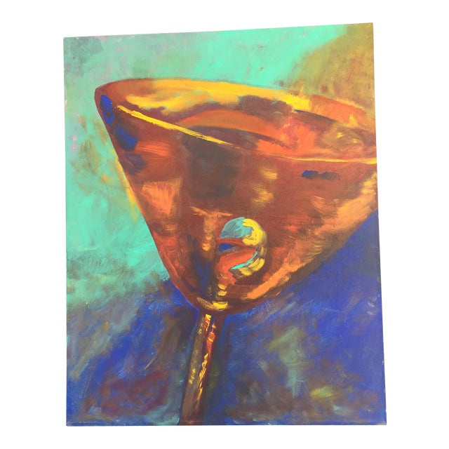 Martini Acrylic on Canvas Painting For Sale