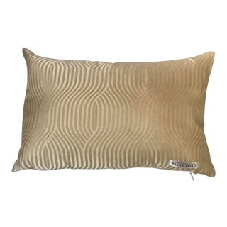 Dransfield & Ross Bluff Road Gold Lumbar Pillow For Sale