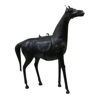 Leather Wrapped French Horse For Sale