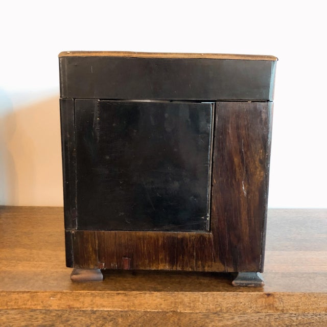 19th Century French Ebony and Rosewood Tantalus Liquor Cabinet For Sale - Image 12 of 13