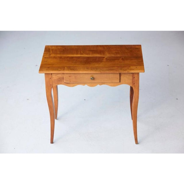 Wood 19th Century French Provincial Fruitwood Occasional Table For Sale - Image 7 of 10