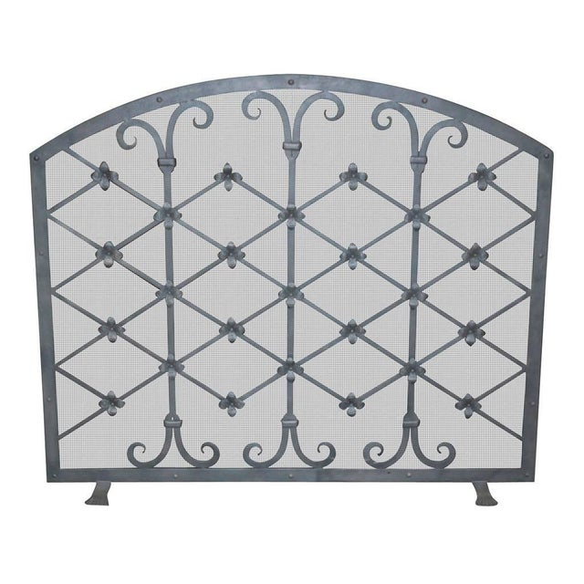 This available iron fire screen was made by us at Legacy Antiques in Dallas. But we can make one custom for you in any...
