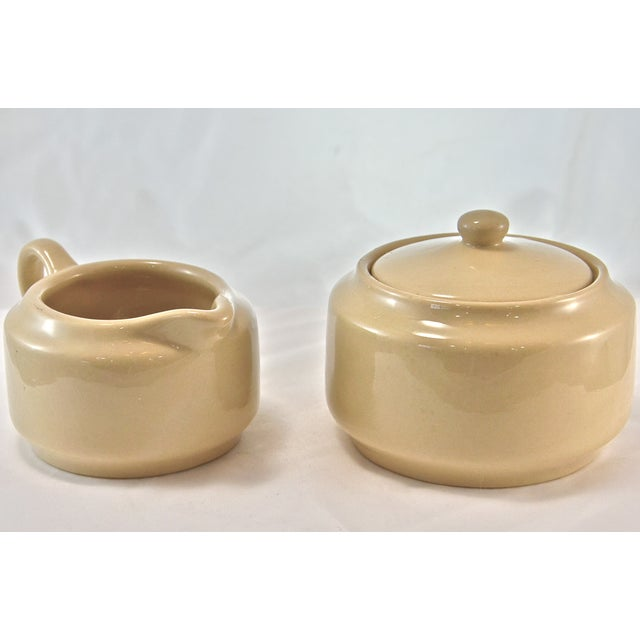 Mid-Century Modern Bisque Cafe Ware Cream & Sugar For Sale - Image 3 of 6