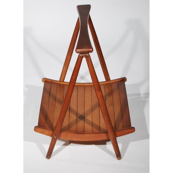 Teak Wood Magazine Tray Holder For Sale - Image 5 of 6
