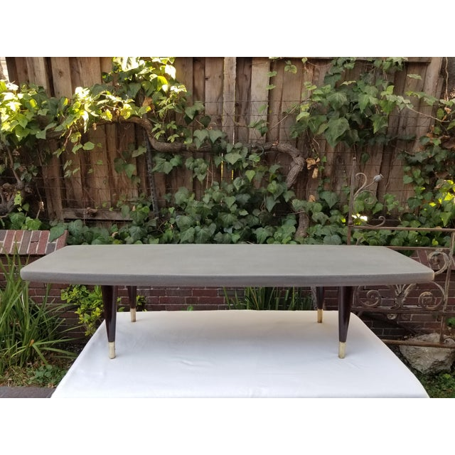 Mid-Century Cork and Rosewood Coffee Table For Sale - Image 11 of 12