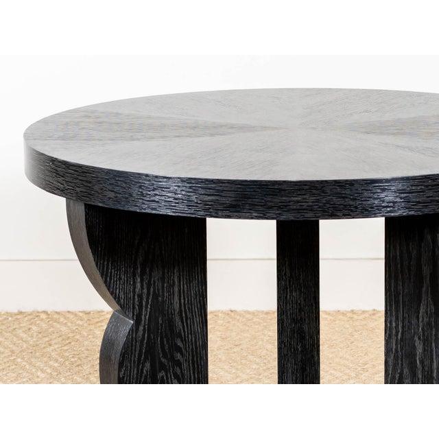 Transitional Ebonized Oak 'Dudley' Table For Sale - Image 3 of 6