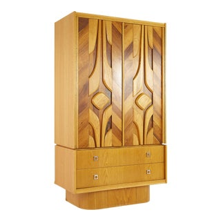Mid Century Canadian Brutalist Armoire For Sale
