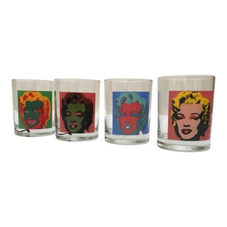 Andy Warhol Marilyn Monroe Lowball Glasses - Set of 4 For Sale