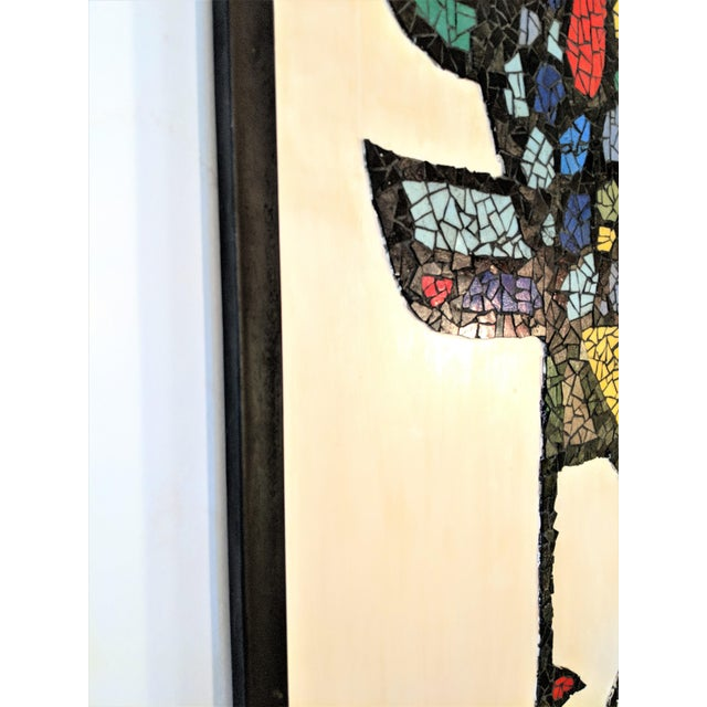 1970s Large Mosaic Rooster Wall Art For Sale - Image 5 of 11