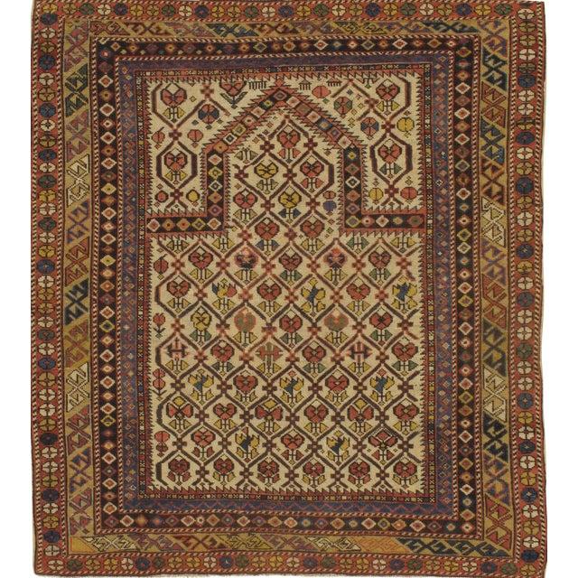 "Pasargad NY Antique Russian Shirvan Hand-Spun Wool Pile Rug - 3'11"" x 4'3"" - Image 1 of 2"