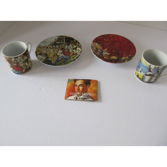 Traditional Yoryi Morel Arte de Cafe Limited Collection Cup Saucer Espresso Demitasse Set-4 Pieces For Sale - Image 3 of 5