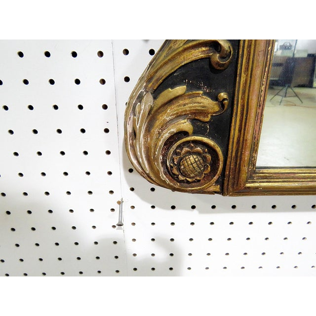 Gold Antique Regency Style Trumeau Mirror For Sale - Image 8 of 13