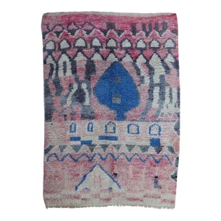 Vintage Pink Berber Rug For Sale