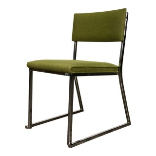 Funky Lime Green / Chrome Frame Mid-Century Modern Desk - Side Chair For Sale
