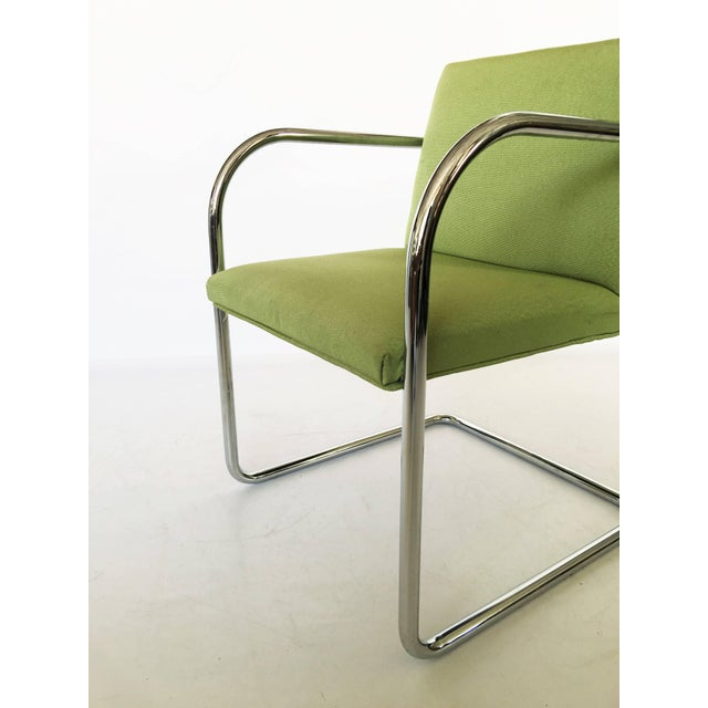 Pair of Brno Chairs in Green For Sale - Image 4 of 9