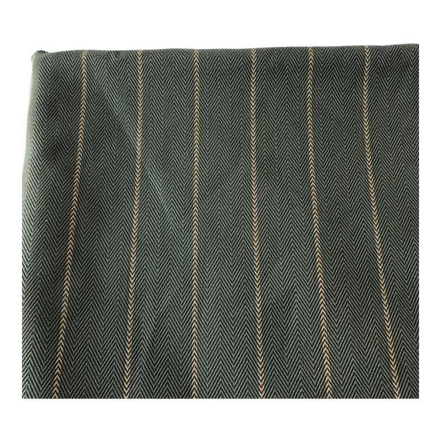 Green Herringbone Arrow Upholstery Fabric - 5 Yards - Image 1 of 6