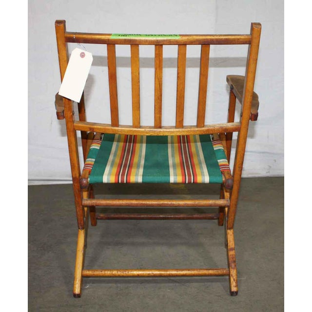 Wooden Folding Beach Chair - Image 3 of 5