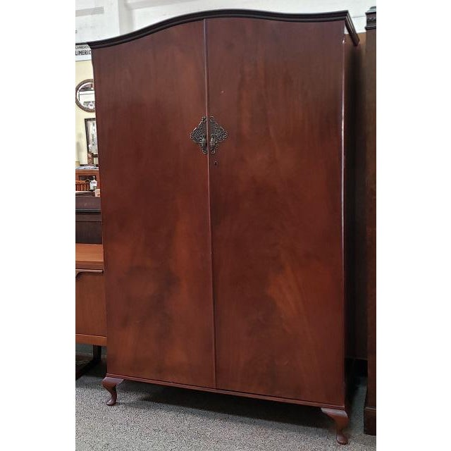 Classic English Regency Style Vintage Armoire c.1950s Great Extra Closet – UK Import 48″ Wide x 21.5″ Deep x 73.5″ High A...