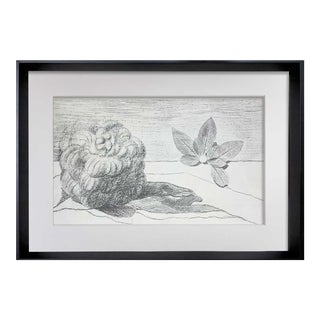 """Max Ernst Lithograph Limited Edition 61/250 """"Fields of Honor..."""" W/ Frame Included For Sale"""