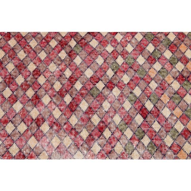 Mid 20th Century Vintage Art Deco Wool Runner Rug For Sale - Image 9 of 13