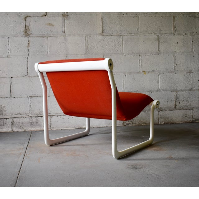 Contemporary Hannah & Morrison for Knoll Mid Century Modern Sling Lounge Chair For Sale - Image 3 of 13