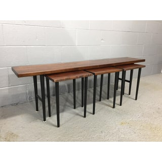 1960s Danish Modern Rosewood Table With 3 Small Nesting Tables - 4 Pieces Preview