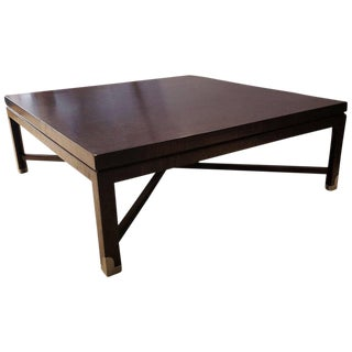 Early Tommi Parzinger Cocktail Table with Pewter Sabots in Exotic Rosewood For Sale