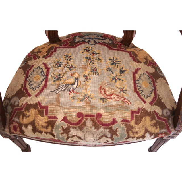 French-Style Needlepoint Armchair - Image 2 of 5
