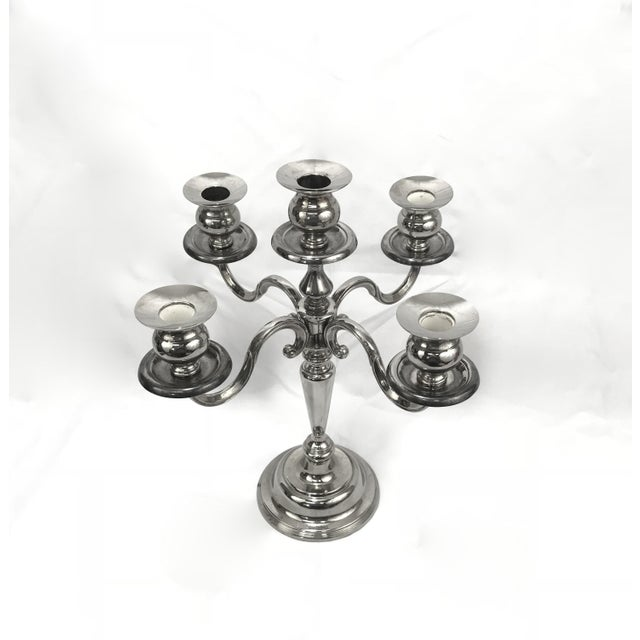 1950s 1950s Silverplate Holiday Candelabra For Sale - Image 5 of 5