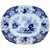 Image of Chinoiserie Ironstone Platter, Ridgway & Morley, England, Circa 1845 For Sale