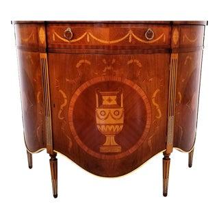 Italian Demilune Console Cabinet For Sale