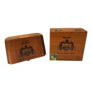 Vintage Cigar Boxes- A Pair For Sale