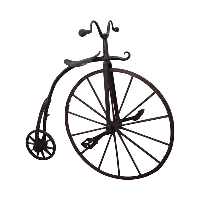 Antique Iron High Wheel Bicycle - Image 1 of 10