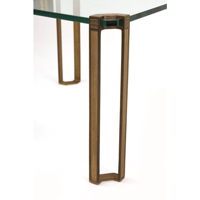 Peter Ghyczy Bronze and Glass Table by Peter Ghyczy For Sale - Image 4 of 7