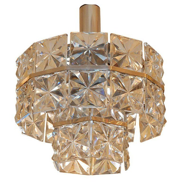 Transparent 1960s Glass Chandelier For Sale - Image 8 of 8