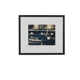 Large Le Dôme, Montparnasse, Paris, France Fine Art Giclee of a Cyanotype, Framed For Sale